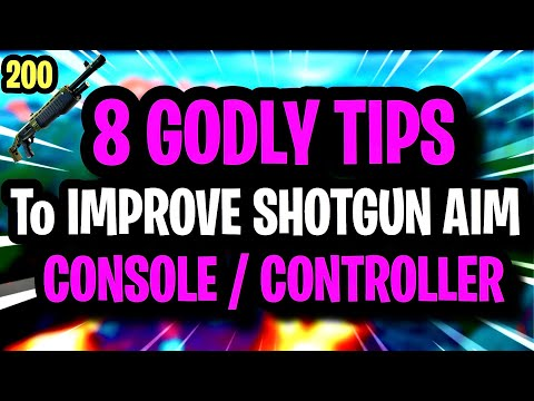 8 ADVANCED TIPS To IMPROVE SHOTGUN AIM On CONSOLE / CONTROLLER ~ Fortnite Chapter 2 Ultimate Guide