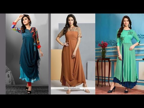 Latest Georgette Kurti Designs Part 07