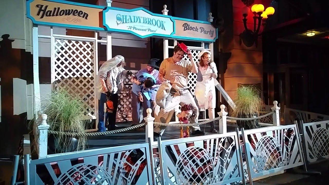 universal studios orlando halloween horror nights 2015 shadybrook show 1102015 orlando fl