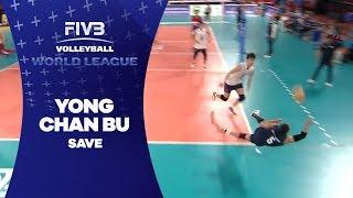 Great save by Libero Bu - World League 2017