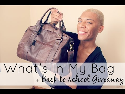 What's In My Bag  Back To School Giveaway