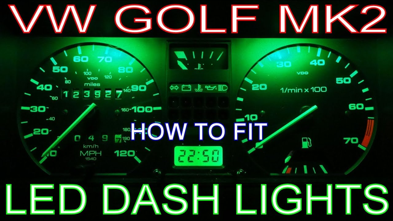 How to Install LED Dash Lights. Fit Speedo/Instrument Panel LEDs ...