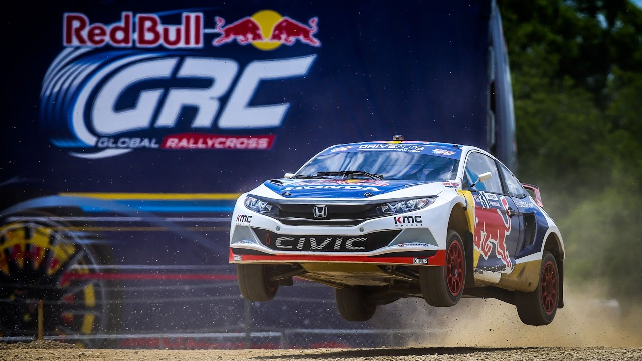Grc Civic >> The 2016 Honda Red Bull Global Rallycross Civic goes 360 with GoPro - YouTube
