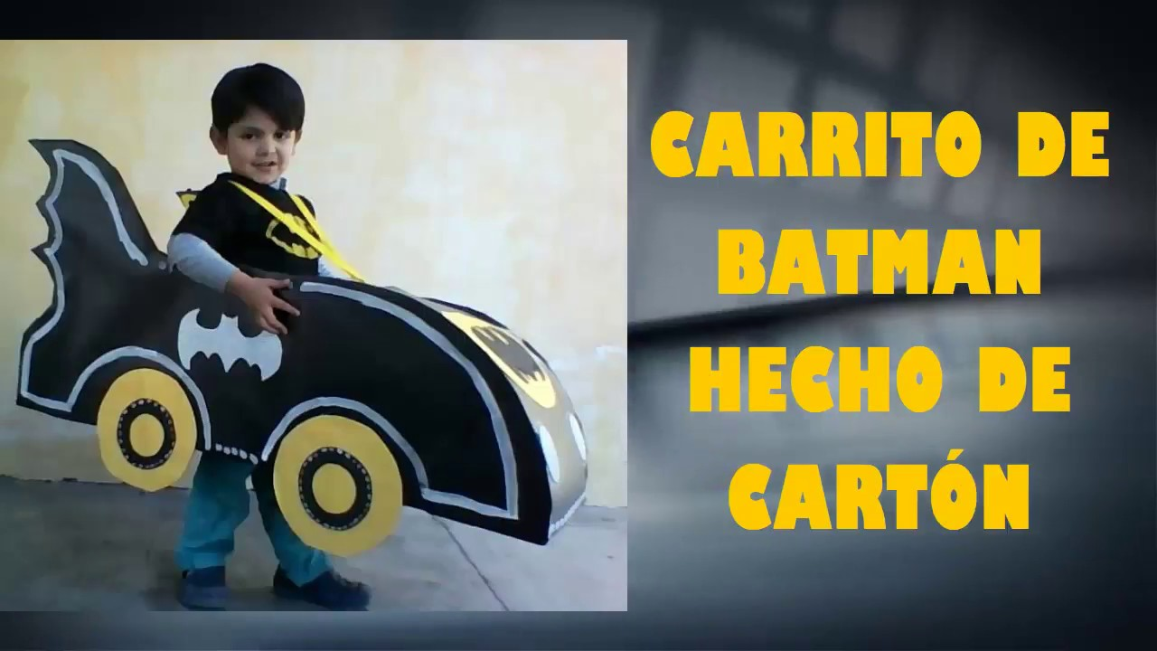 CARRO DE BATMAN HECHO DE CARTON