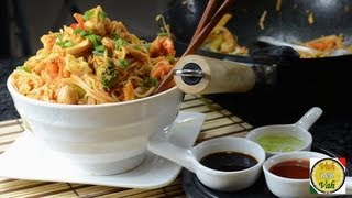 Asian Noodles With Chicken And Shrimp - By Vahchef @ Vahrehvah.com