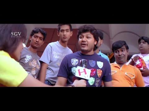 Rangayana Raghu Introduce his Son Ganesh On Stage Comedy Scenes   Ullasa Utsaha Kannada Movie Part-1