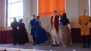Taniec dworski menuet w wykonaniu uczniów Zespołu Szkół