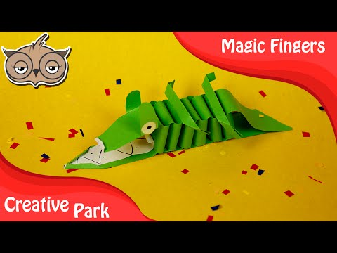 DIY Crafts - How To Make An Easy Paper Crocodile For Kids