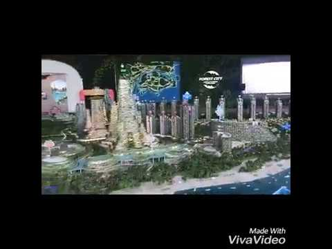Inside Forest City Johor Gallery - 700sf scale model for Island 1