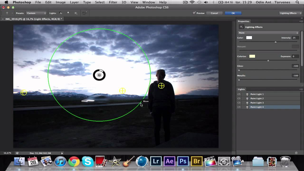 Adobe Photoshop CS6 - Tutorial: Lighting Effects - YouTube