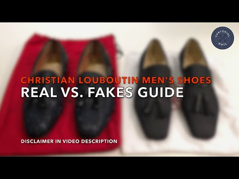 f0e3c60a141 Christian Louboutin Real vs. Fake Replica Guide (Men s Shoes) - YouTube