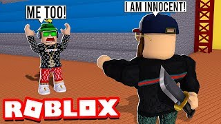 TRICKING SIMASGAMER AS MURDERER in ROBLOX MURDER MYSTERY 2