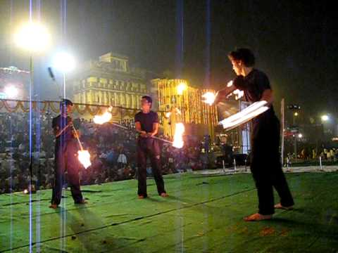 Mexican Fire Dancing in India