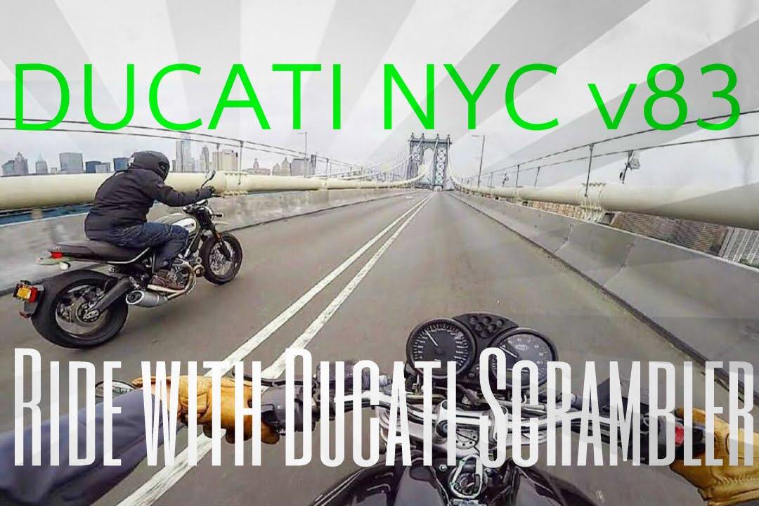 Ducati Nyc V83 Ride With A Ducati Scrambler Urban Enduro