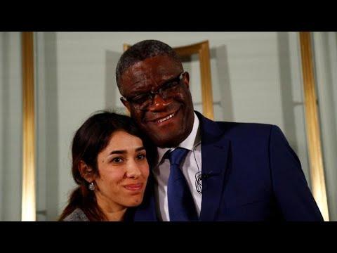 الفائزان بجائزة نوبل للسلام يطالبان بالعدالة لضحايا الاغتصاب أثناء الحروب…