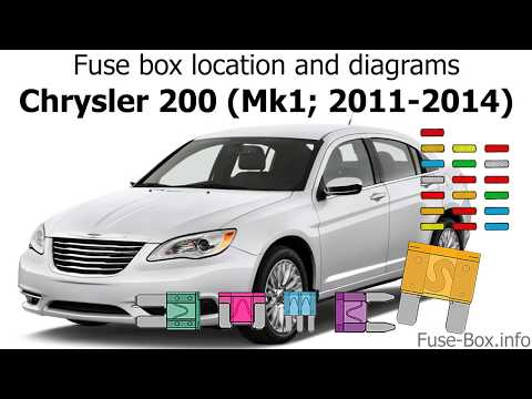 Fuse box location and diagrams: Chrysler 200 (2011-2014) - YouTubeYouTube