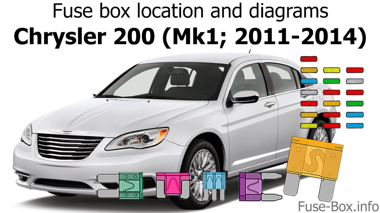 Fuse Box Location And Diagrams  Chrysler 200  2011