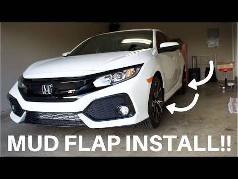 How to install Mud Flaps **10th Gen Honda Civic**