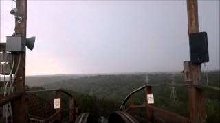 Kings Island: The Beast / On Ride in the rain POV / May 26, 2015