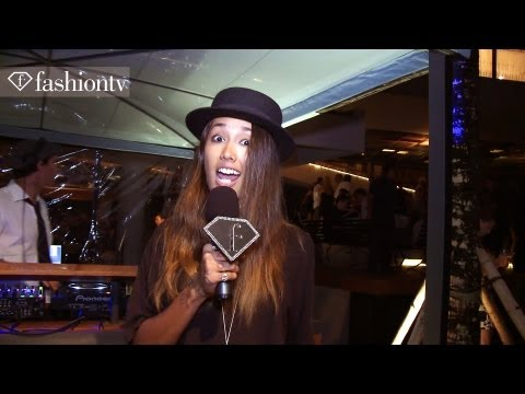 Supermodel Angela Lindvall at Potato Head Beach Party - Soft Opening in Bali | FashionTV - FTV