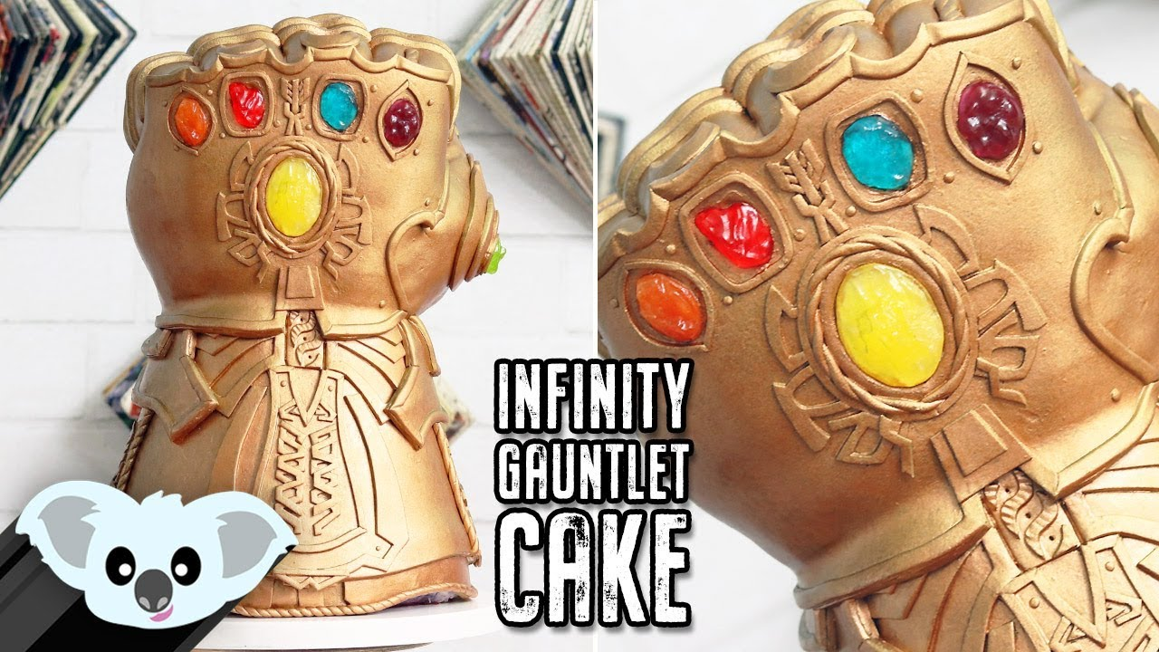 avengers infinity gauntlet cake koalipops how to youtube