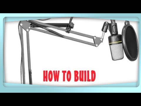 Diy Suspension Boom Scissor Arm Stand Mic How To Youtube