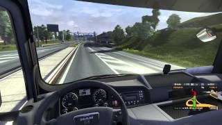 Euro Truck Simulator 2 - Heavy load to Linz with my MAN TGX P2/2 (Beta gameplay, Logitech G25)