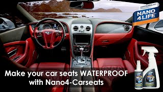 Make your car seats waterproof with Nano4-Carseat | Nanotechnology products | by NANO4LIFE