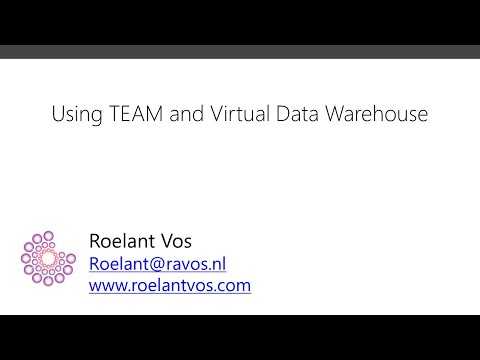 Using TEAM And Virtual Data Warehouse To Generate A Data Warehouse.