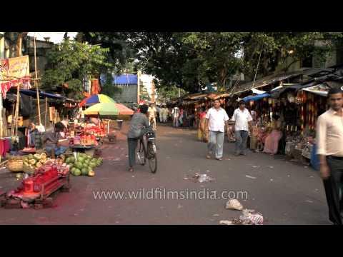 Market place around Kalighat: Kolkata