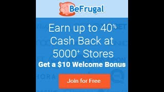 How to earn cashback on Befrugal.com