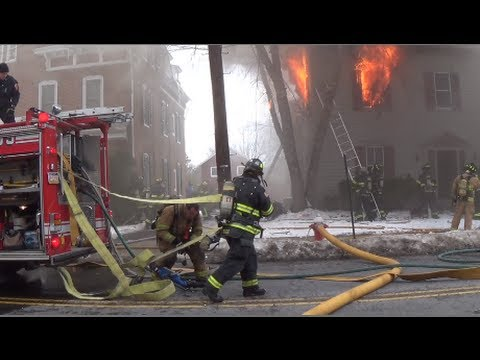 State Street Building Fire 1/27/14 Newtown, PA.