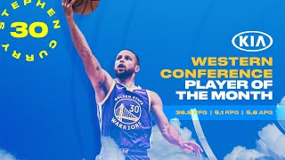 Stephen Curry Named May, 2021 Western Conference Player of the Month!