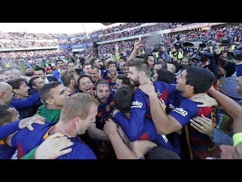 FC Barcelona's League Title celebration 15/16 (I): Post-game in Granada