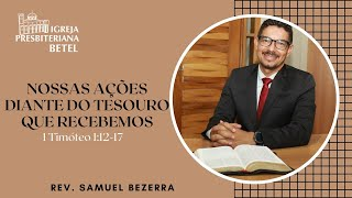25/10/2020 - NOSSAS AÇÕES DIANTE DO TESOURO QUE RECEBEMOS