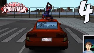 Ultimate Spider-Man Let's Play Playthrough - PART 4 - SpiderMan Has Road Rage!