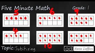 1st Grade Math Subitizing