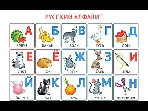 Русский алфавит. Азбука для малышей (Муртики) - учим буквы