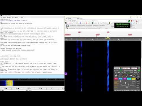 WLO Marine anti-piracy report at 8473 kHz (in SITOR-B mode)