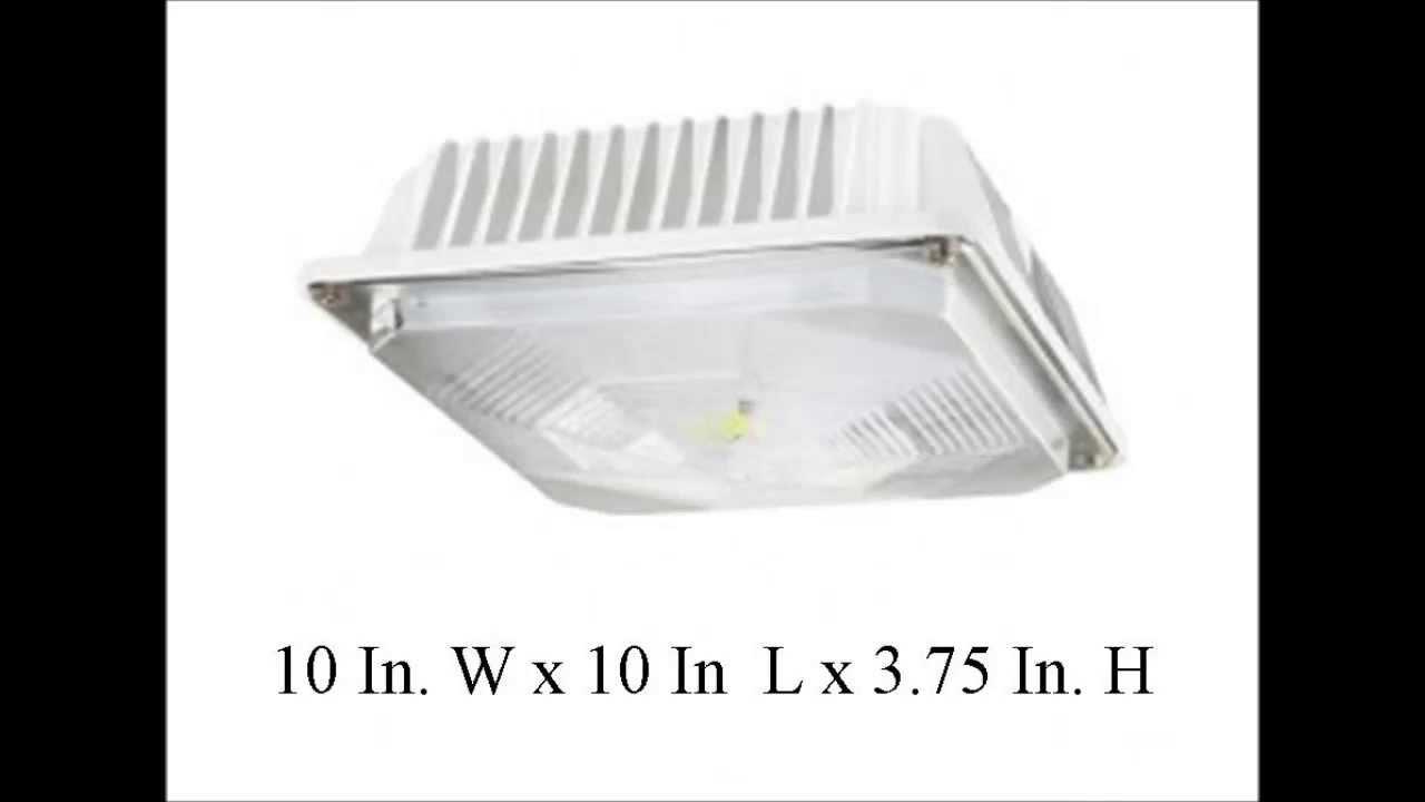 38 watt led ceiling mount canopy or garage light fixture youtube arubaitofo Images