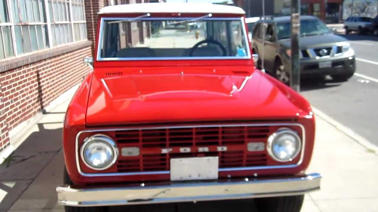 1967 Ford Bronco Sport Restored V8, 4x4 For Sale! - YouTube