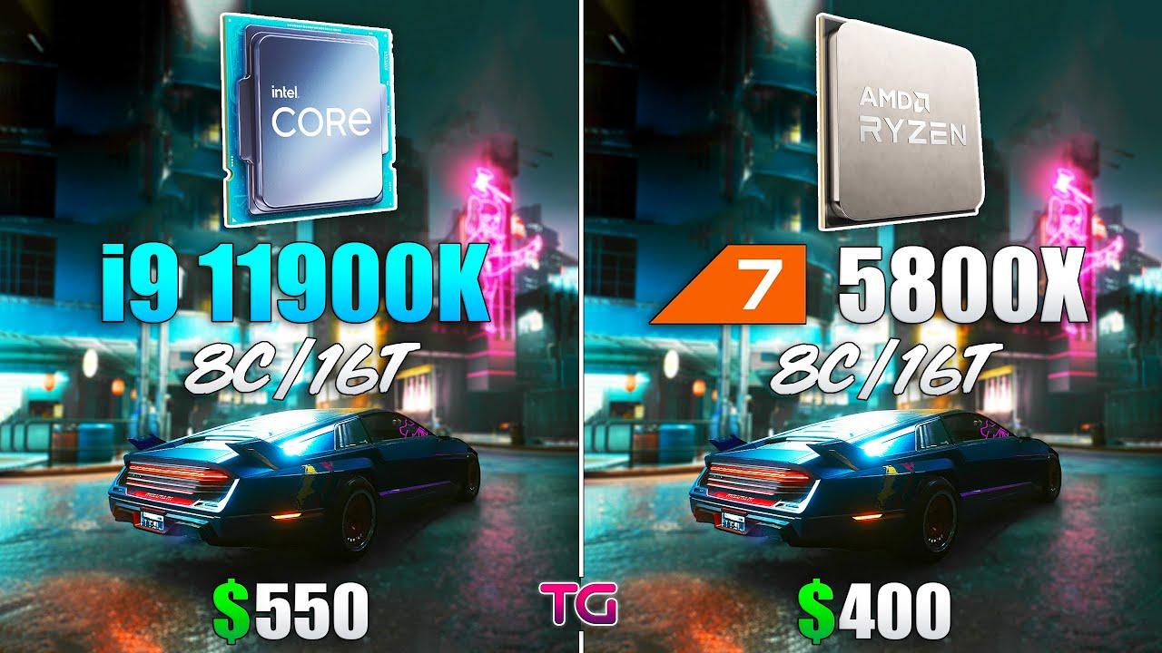 Ryzen 7 5800X vs Core i9 11900K Test in 8 Games