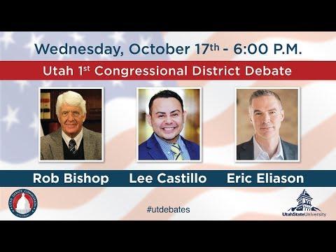 1st Congressional District Debate With Rob Bishop, Lee Castillo, and Eric Eliason