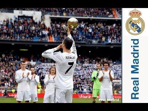 Así fue el ofrecimiento del Balón de Oro de Cristiano Ronaldo al Bernabéu