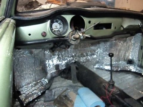 karmann ghia - sound insulation install