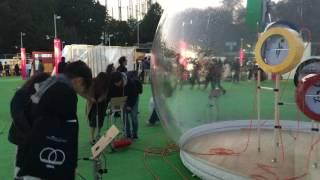 Tokyo Design Week Dome Tent - Pneumatic Split Flap Animation - Sunday