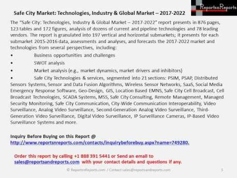 Safe City Market Technologies, Industry & Global Market   2017 2022
