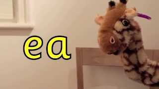 Geraldine the Giraffe learns /ea/ in meat