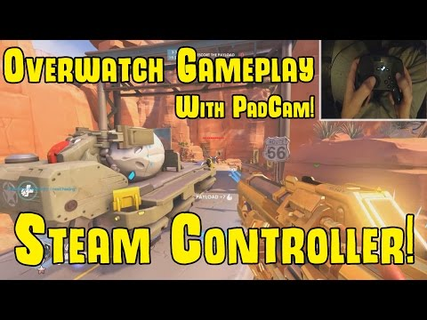 Steam Controller Overwatch Game play! 1440p with Padcam