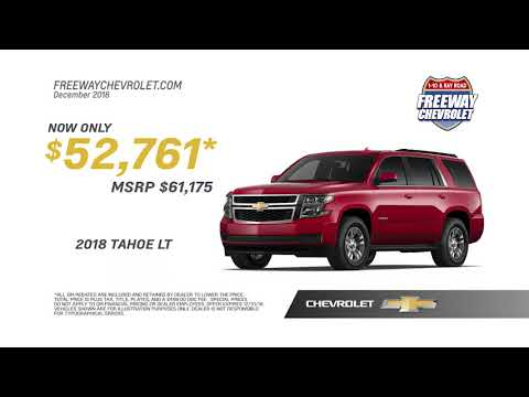 Freeway Chevrolet | December 2018 Offers